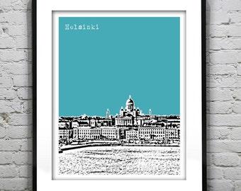 Helsinki Finland Skyline Poster Art Print