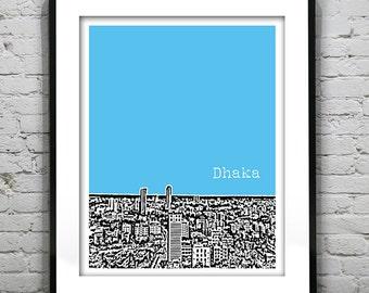 Dhaka Bangladesh Skyline Poster Art Print