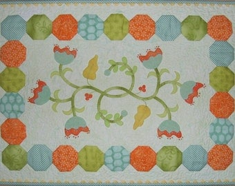 Tangled Blossoms Wool on Cotton Applique Pattern