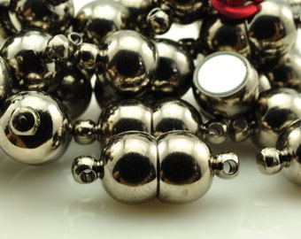 10 Sets of Gun black Magnetic Clasp in 8mm wideX 18mm length