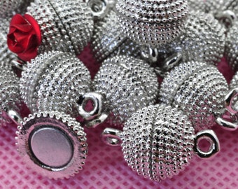 10 Sets of Antique Silver Magnetic Clasp in 14mm wideX 22mm length