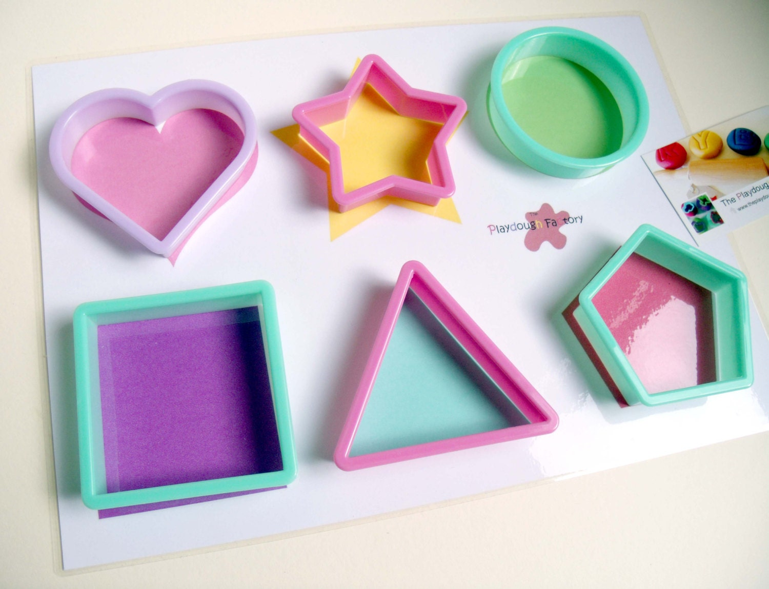 Unavailable listing on etsy for Playdough letter cutters