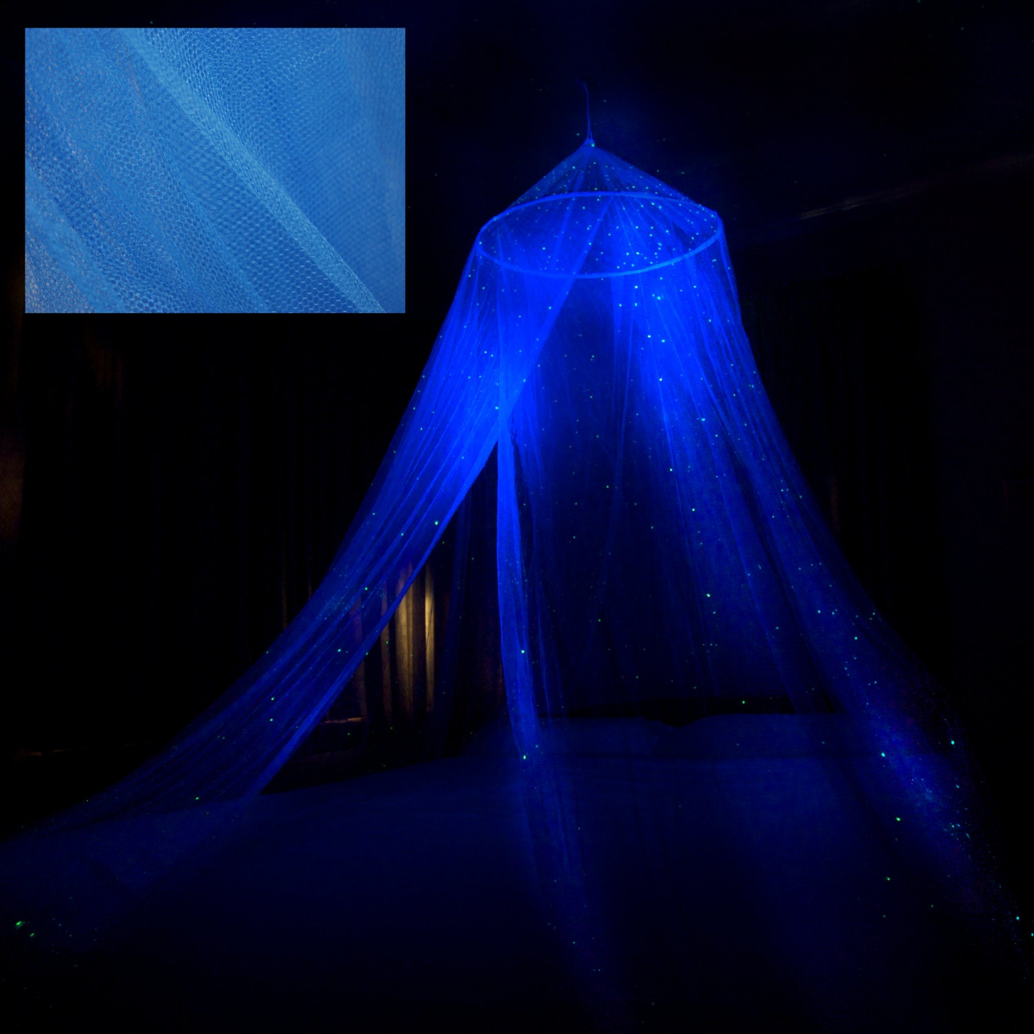 Glow Stars For Ceiling: Glow In The Dark Stella Star Canopy Blue Surround Your Bed