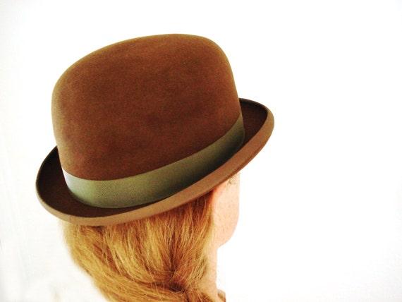 ffbdc3c480d Vintage fur felt hat derby bowler old west or urban chic fully jpg 570x428  Old west