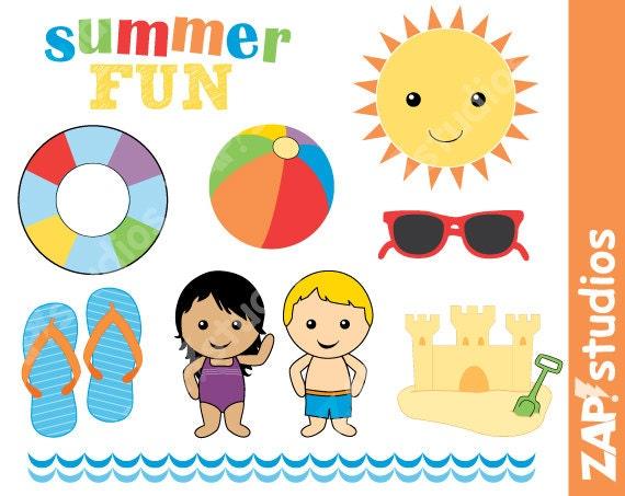 summer fun clip art set instant download swimming clip art etsy rh etsy com summer fun clip art images summer fun clip art free images