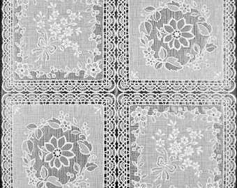 White Vinyl Lace with Lining - 30 Yards (no felt back)