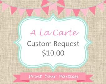Custom Request Fee 10