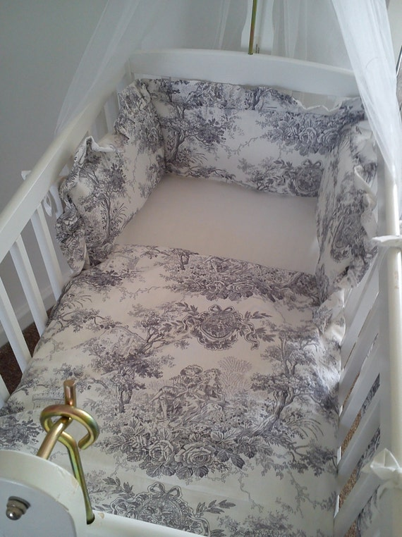 Items similar to vintage french toile de jouy cradle crib - Chambre toile de jouy ...