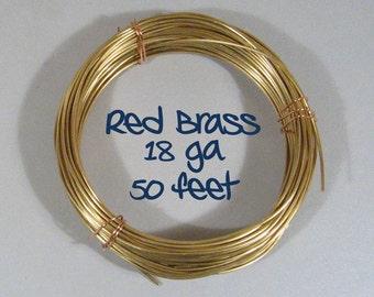 18ga 50ft DS Red Brass Wire