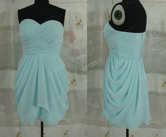 Sky Blue Bridesmaid Dresses Cheap Bridesmaid Dress By
