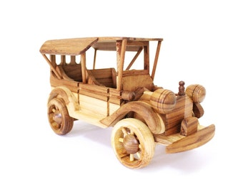 Wooden Toy Classic Car 07 in Handmade