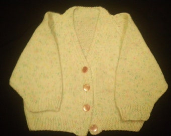 Knitted Baby/Infant Girl's Cardigan Sweater
