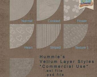 Hummie's Vellum Layer Styles