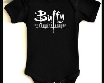 wb buffy the vampire slayer baby outfit kids tee infant bodysuit tv show t shirt
