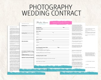Wedding Photography contract business forms flowers editable templates - 5 psd files supplied
