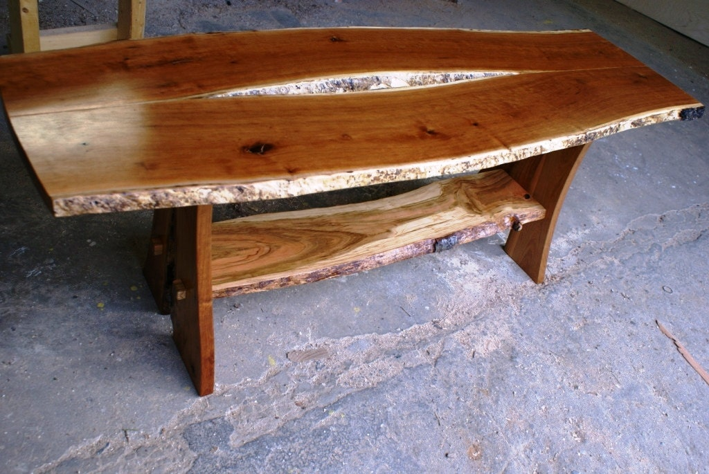 Natural Live Edge Cherry Coffee Table