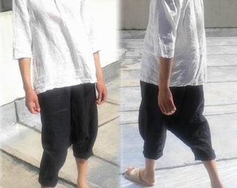 Linen yoga pants | Etsy