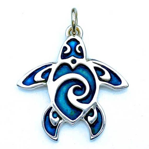 Turtle Tattoo Necklace Sterling Silver Pendant With By