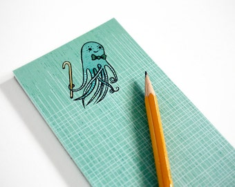 Giant SQUiD notepad (long note pad) by boygirlparty - octopus notepad note paper memo pad