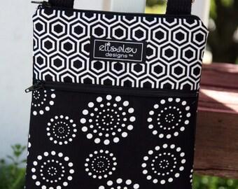 Kindle / Fire / Nook / iPad Mini / eReader / Padded Sling Bag / Cover / Case- Hive & Spiral Dot