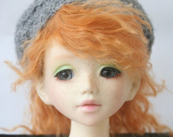 Crocheted Grey BJD Hat for Unoa or Similar Head Size