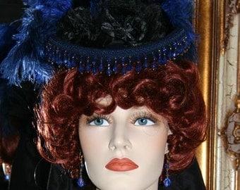 Victorian Riding Hat Sidesaddle Hat SASS Tea Party Hat - Spirit of Denver