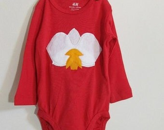 Orchid Flower - Long Sleeved Baby Bodysuit