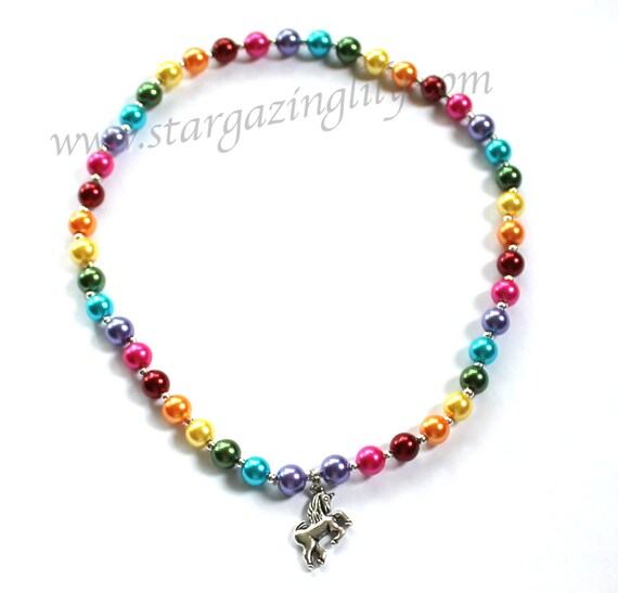 rainbow pearl personalized name necklace jewelry for little. Black Bedroom Furniture Sets. Home Design Ideas