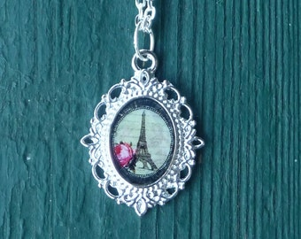 Eiffel tower necklace - silver