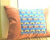 Pillow, Silk Pillow, Satin Pillow, Patchwork Pillow, Polka Dot Pillow, Pillow Cover, Pillow Case, Decorative Pillow, Accent Pillow