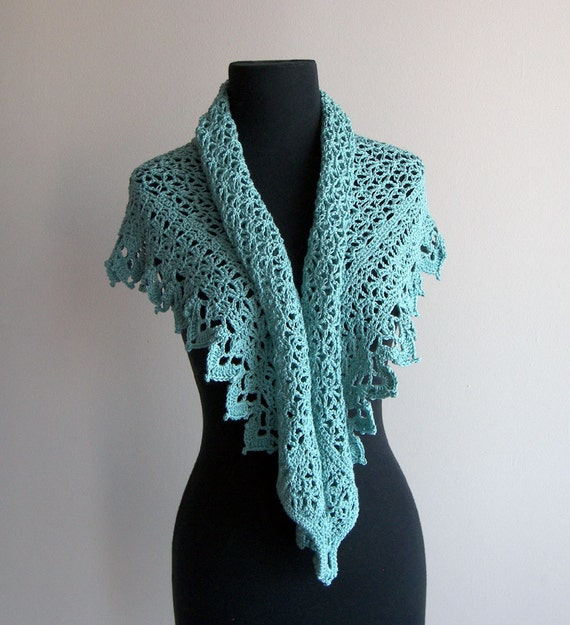 Free Crochet Patterns For Shawls And Wraps : Custom Made Crochet Lace Scarf Prayer Meditation Comfort ...