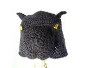 Crochet Dog Hat - Animal Hat for Baby / Toddler / Boy / Girl / Man / Woman - Spooky Animal Beanie