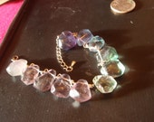 rainbow drop bracelet