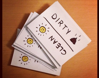 Dirty / Clean dishwasher flip magnet - housewarming gift, new home, decor