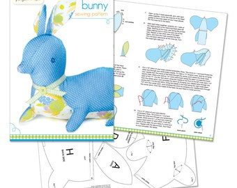 Bunny Sewing Pattern - Printed Booklet and Pattern Sheet
