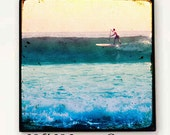 Surf Art Large Canvas, Retro Surfing Art, California Art, Surfer Art Beach Canvas Wall Art