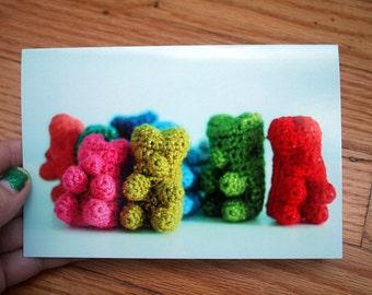 Greeting Card - crocheted Gummy Bears