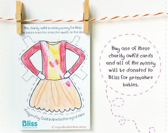 Charity Clara Paper Doll Outfit Raising Money For Bliss Charity - Children's Paper Toy