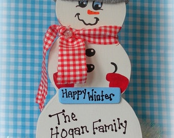 Personalized  Country Snowman, Christmas Gift Under 30, Country Christmas Decor, Showman Gift, Country Christmas Gift