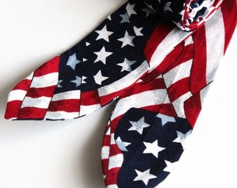 Cooling Neck Wrap. Cool Tie. Polymer Filled Personal Neck Cooler. Stars and Stripes Tie. American Flag Necktie. Christmas Stocking Stuffer