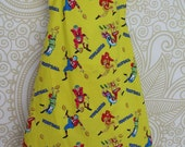 Childs Bright Yellow Football Player Apron