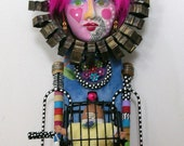 BABY ON BOARD Recycled FuNkY found object sculptures mixed media