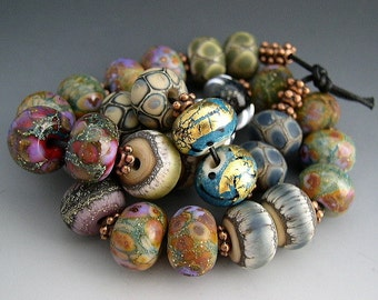 Naos Glass One of Each Bead Pair Mega Set 28 beads Made To Order Artisan Glass Beads Handmade Lampwork Beads SRA
