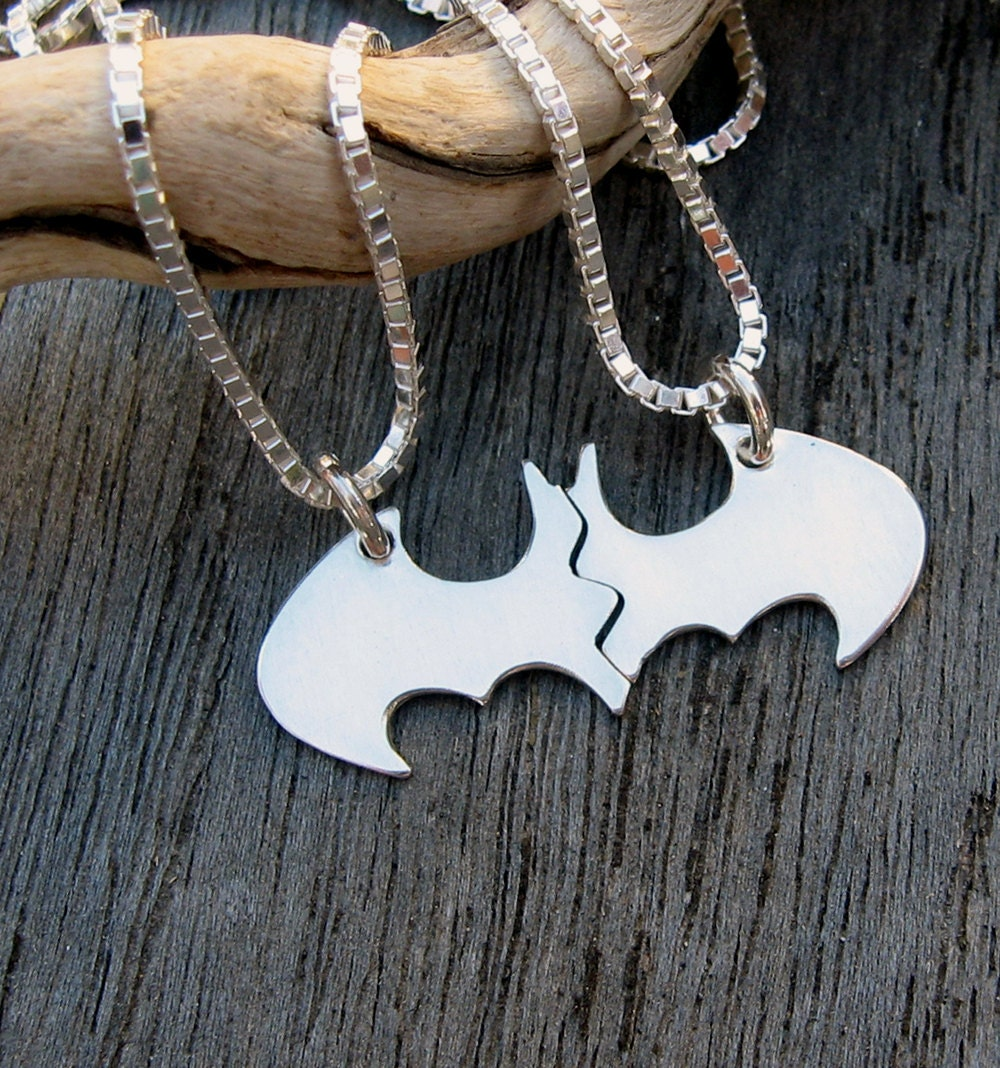 Batman Best Friend Necklaces In Sterling Silver Blank
