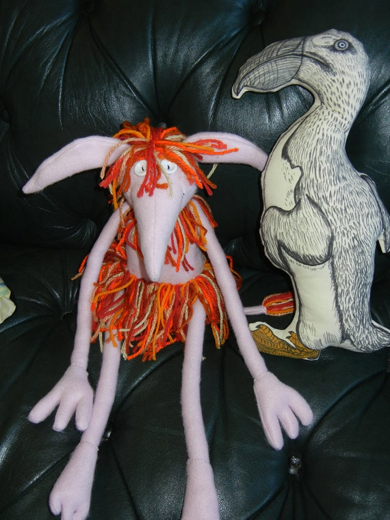 Fiery Goblin Doll    light pink fleece