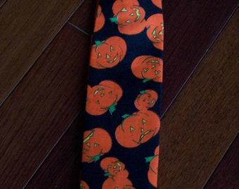 RTS Pumpkin Patch Neck Tie Toddler Halloween, Black, Orange Jack-O-Lanterns