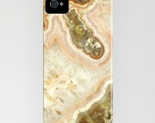 iPhone 4 Cell Phone Case - Mineral Pink Agate Gemstone Photograph - Pink Agate