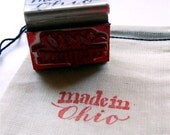 made in Ohio Rubber Stamp, Hand Lettering, Contemporary Calligraphy Stamp, Ohio State, Card Maker Artist Stamp, Made in America