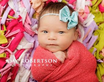 Baby Headband / Newborn Headband / Infant Headband / CLEMENTINE Bows - Sweet n petite Newborn Bow Headband