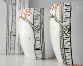Autumn Aspen Forest - Single Large Personalized Hand Painted Mug